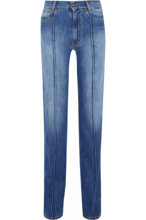 MAISON MARGIELA Faded high-rise straight-leg jeans