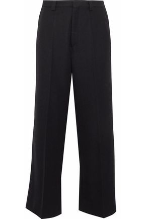 MAISON MARGIELA Wool and mohair-blend twill straight-leg pants