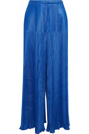 SIMON MILLER Plissé wide-leg pants