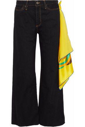 SIMON MILLER Denver Scarf high-rise wide-leg jeans