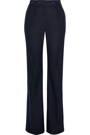 BELSTAFF Maria grosgrain-trimmed wool-blend straight-leg pants