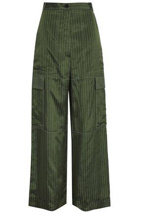 SONIA RYKIEL Pinstriped sateen-twill wide-leg pants