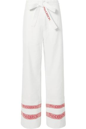 J.W.ANDERSON Tea Towel woven linen wide-leg pants