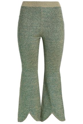 J.W.ANDERSON Metallic knitted flared pants