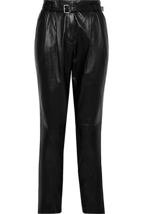 BELSTAFF Emely 2.0 belted leather tapered pants