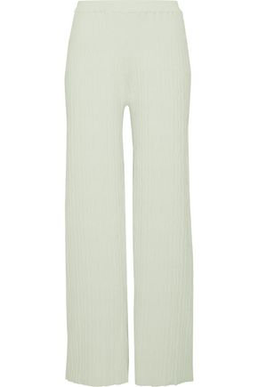 SIMON MILLER Ribbed-knit wide-leg pants