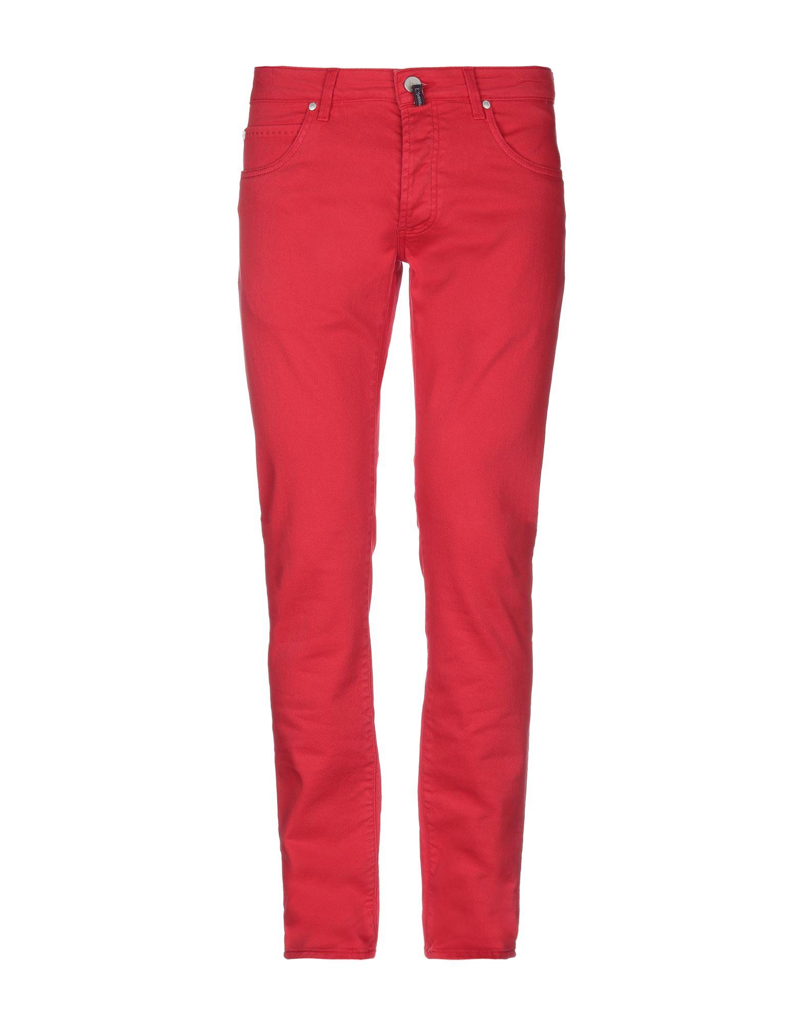 《セール開催中》E.MARINELLA メンズ パンツ レッド 31 コットン 98% / ポリウレタン 2%