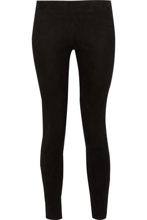 L'AGENCE Suede leggings