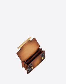 Small VLTN Burnished Calf Leather Uptown shoulder bag
