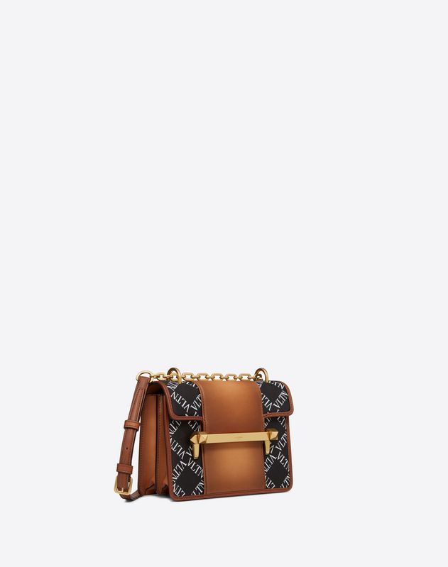 Small VLTN Burnished Calf Leather Uptown shoulder bag