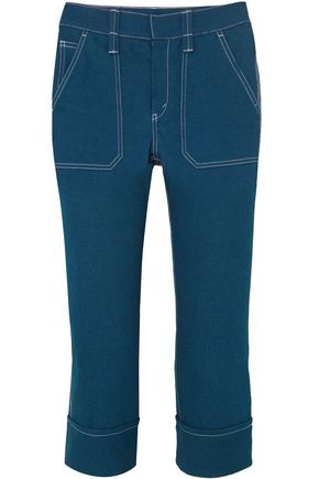 CHLOÉ Cropped high-rise slim-leg jeans