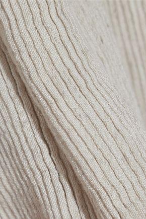 SIMON MILLER Hatton tie-front mélange ribbed-knit wide-leg pants