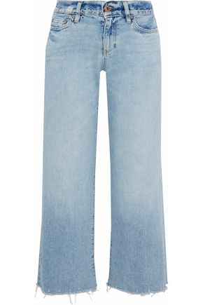 SIMON MILLER Moneta cropped mid-rise wide-leg jeans