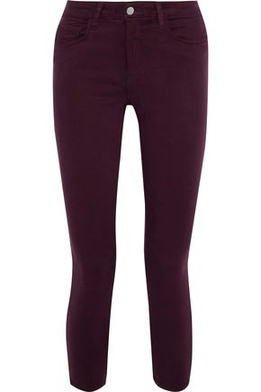 L'AGENCE Margot cropped mid-rise skinny jeans