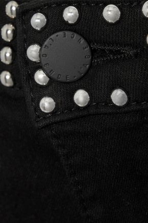 L'AGENCE Margot cropped studded mid-rise skinny jeans