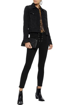 L'AGENCE Cherie cropped mid-rise skinny jeans