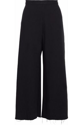 SIMON MILLER Alder frayed cotton-twill culottes