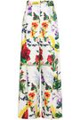 ALICE + OLIVIA Wildflower cotton-blend wide-leg pants