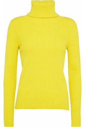 SIMON MILLER Berto neon ribbed-knit turtleneck sweater
