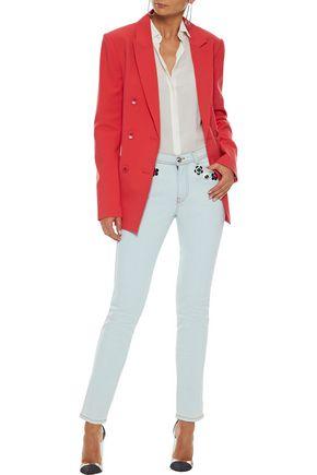 FENDI Embellished mid-rise skinny jeans