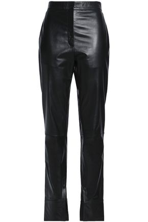 J.W.ANDERSON Leather slim-leg pants