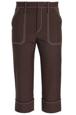 CHLOÉ Cropped woven tapered pants