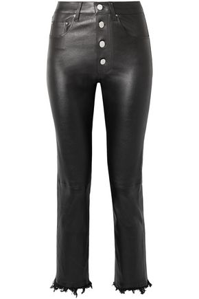 AMIRI Fringed leather straight-leg pants