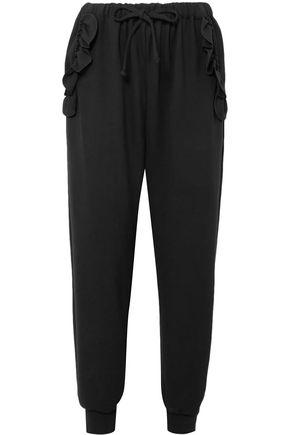 SIMONE ROCHA Ruffled stretch-jersey track pants