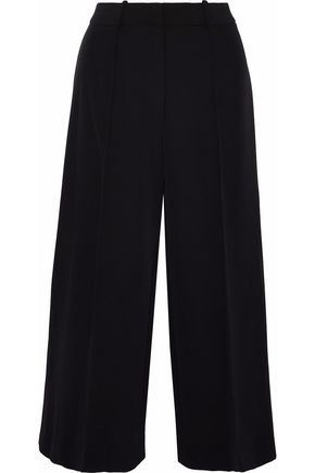 MILLY Hayden cropped crepe wide-leg pants