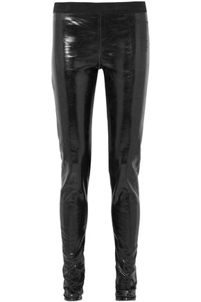 DRKSHDW by RICK OWENS Coated cotton-blend leggings