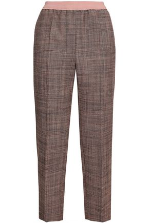 AGNONA Wool-tweed straight-leg pants