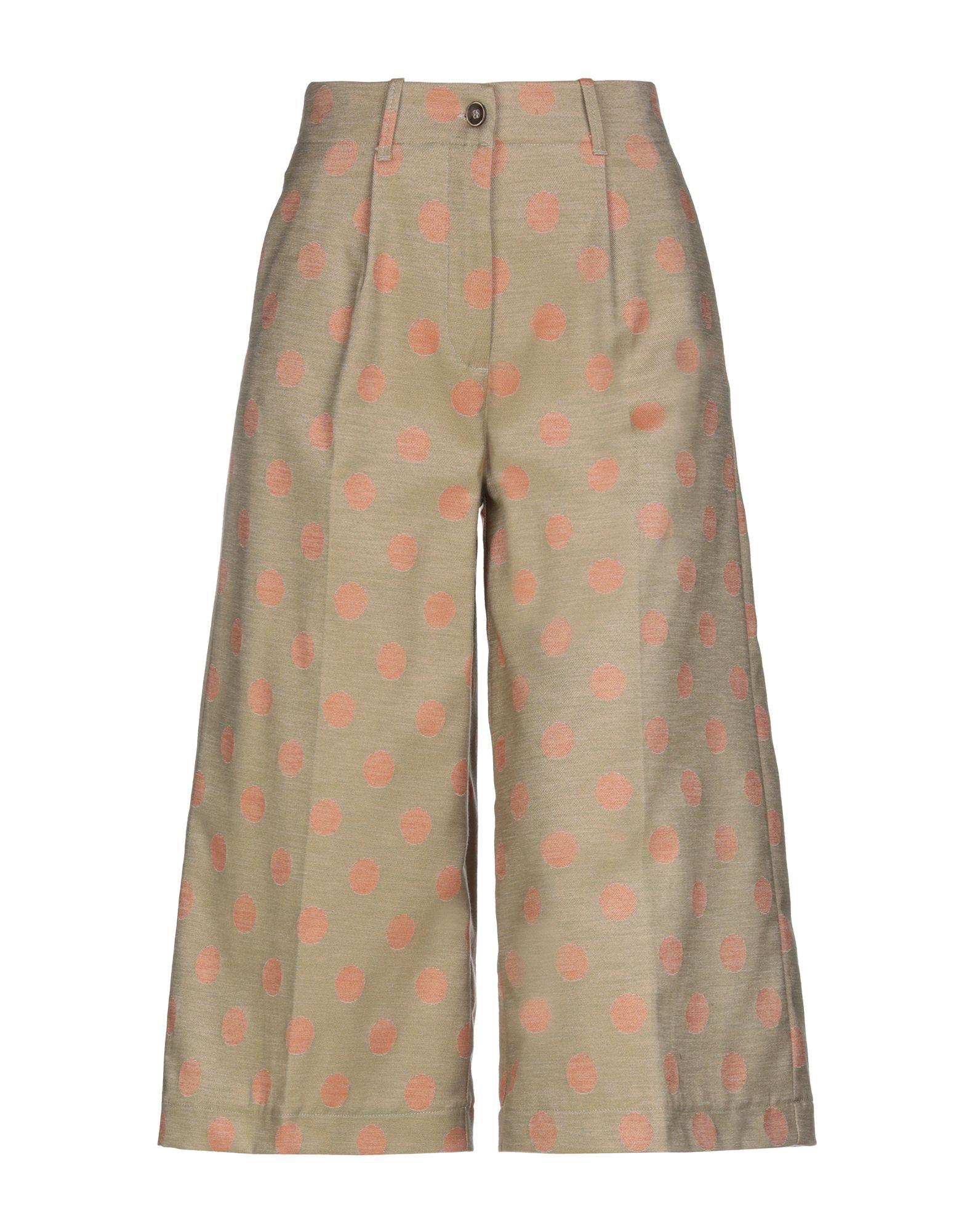 P4-7 Брюки-капри брюки дудочки 7 8 с жаккардовым рисунком в горошек