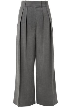 A.W.A.K.E. Pleated wool-blend wide-leg pants