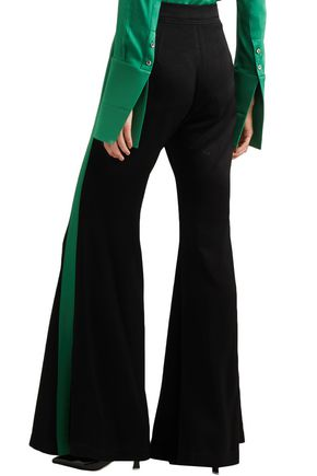 ELLERY Lovedolls satin-trimmed crepe flared pants