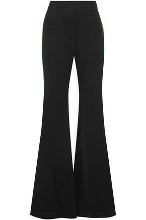 ELLERY Lovedolls satin-trimmed crepe flared pants