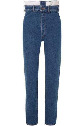 Y/PROJECT High-rise straight-leg jeans