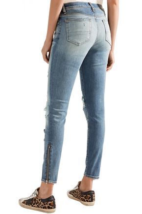 AMIRI Thrasher distressed high-rise skinny jeans