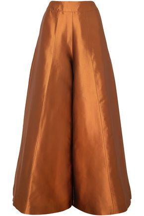 MERCHANT ARCHIVE Duchesse silk-satin wide-leg pants