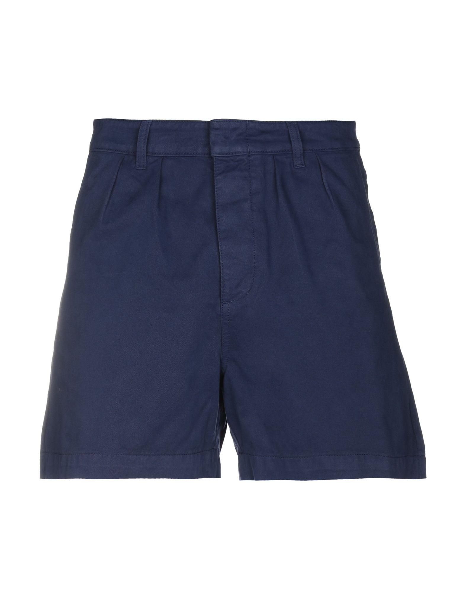 《送料無料》PAURA メンズ ショートパンツ ブルー S コットン 100%