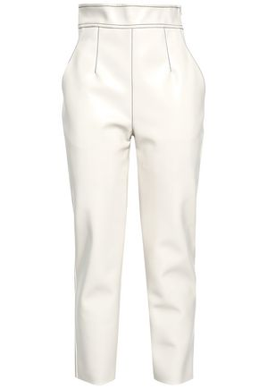 PHILOSOPHY di LORENZO SERAFINI Faux leather tapered pants