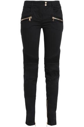 BALMAIN Stretch-cotton slim-leg pants