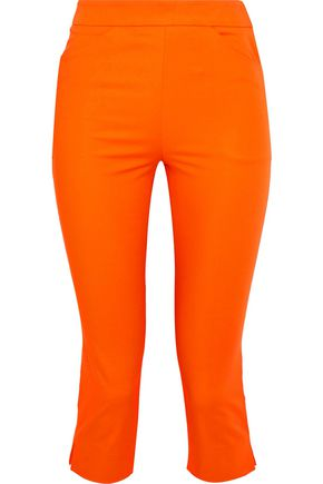MOSCHINO Cropped cotton-blend skinny pants