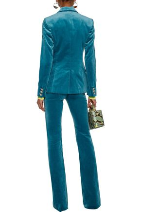 VERSACE COLLECTION Velvet flared pants