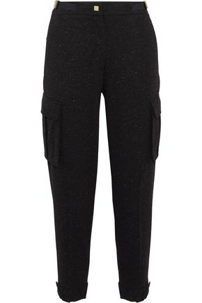 VERSACE COLLECTION Metallic embellished jersey track pants