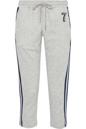 MARKUS LUPFER Daria cropped appliquéd jersey track pants