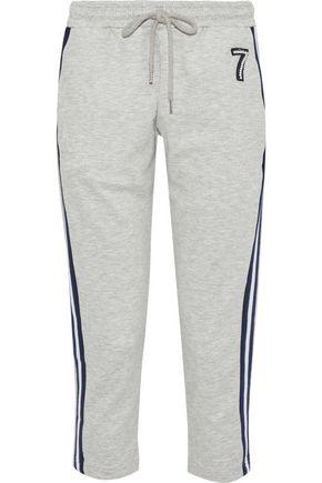 MARKUS LUPFER Daria cropped appliquéd jersey track pants