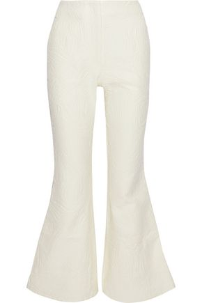 BEAUFILLE Zelus cotton-blend matelassé flared pants