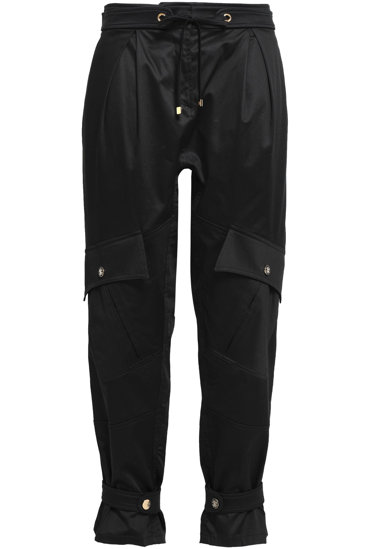 ロベルト カヴァッリ Woman ストレッチコットン カーゴパンツ Black Size 38
