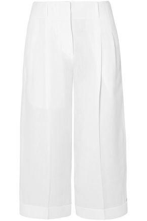 MICHAEL KORS COLLECTION Cropped linen wide-leg pants