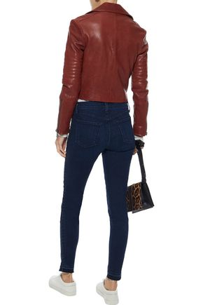 J BRAND 620 braided mid-rise skinny jeans